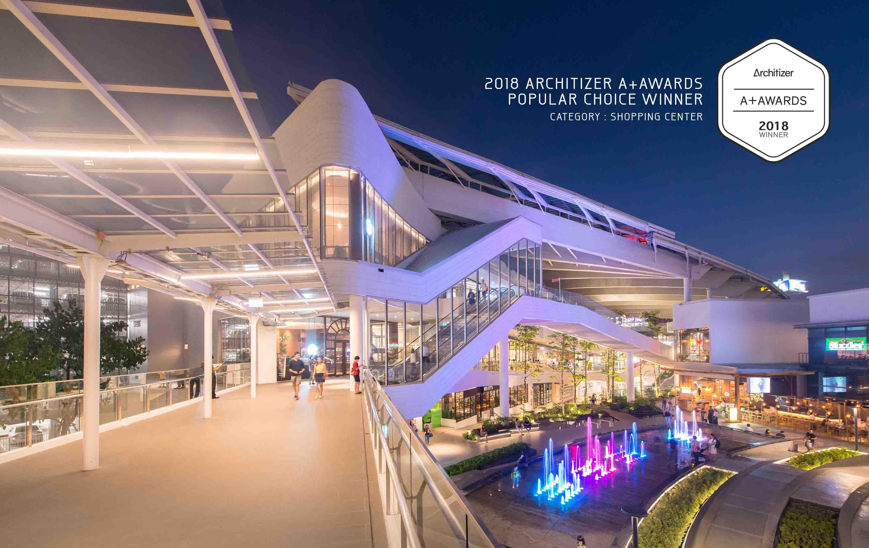 MEGA FOODWALK WINS 2018 ARCHITIZER A+AWARDS : POPULAR CHOICE-SHOPPING CENTER